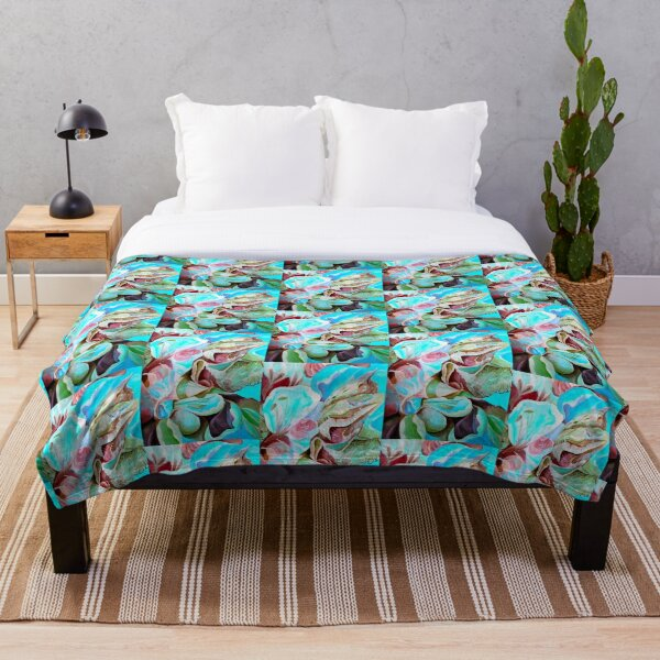 Biophilia Abstract Expressionsim in Contemporary Style Throw Blanket