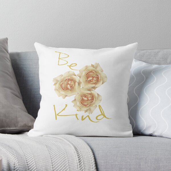 Three Roses of Kindness Throw Pillow