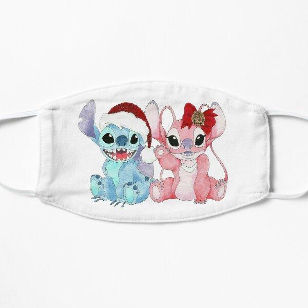 stitch and angel christmas 21 Flat Mask