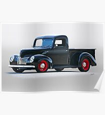 1940 Ford Deluxe 8 Abholung Poster