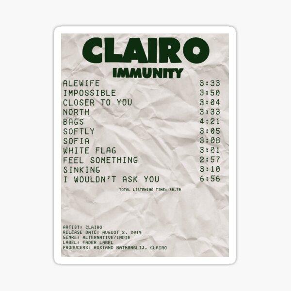Recibo del álbum de Clairo Pegatina