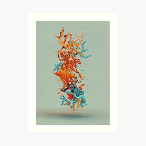 Liquid dance Art Print