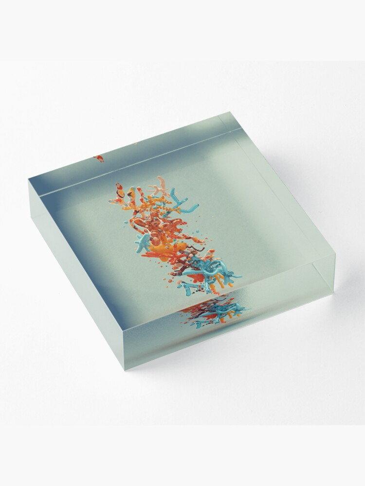 Alternate view of Liquid dance Acrylic Block