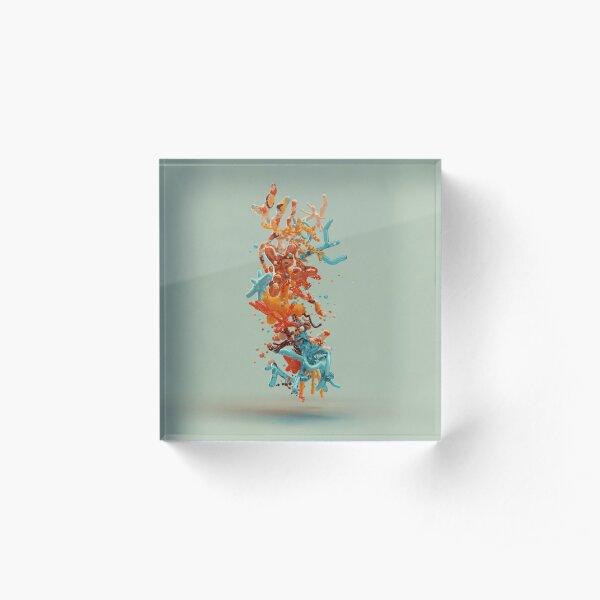 Liquid dance Acrylic Block