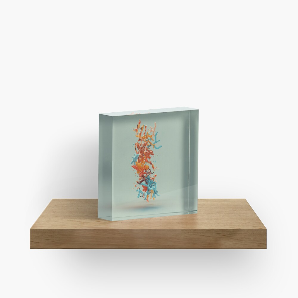 Liquid dance Acrylic Block