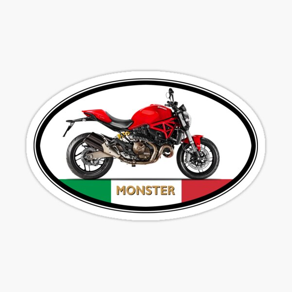 Monster 821 Made In Italy Sticker