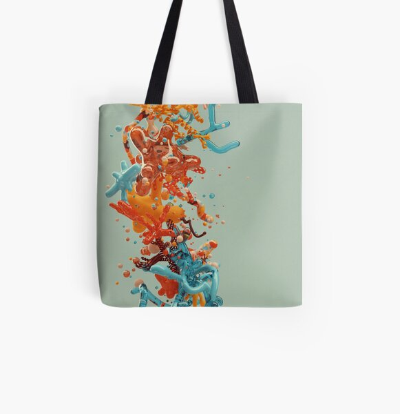 Liquid dance All Over Print Tote Bag