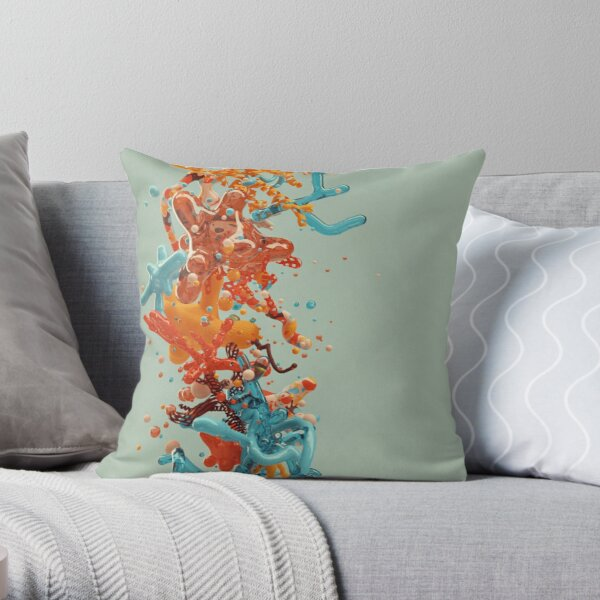 Liquid dance Throw Pillow