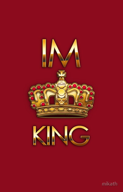 Quot Royal King Crown On Red Background Quot Iphone Cases Amp Skins By Mikath Redbubble