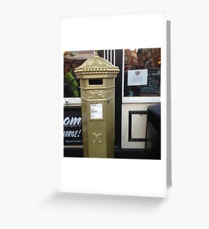Gold post box Greeting Card
