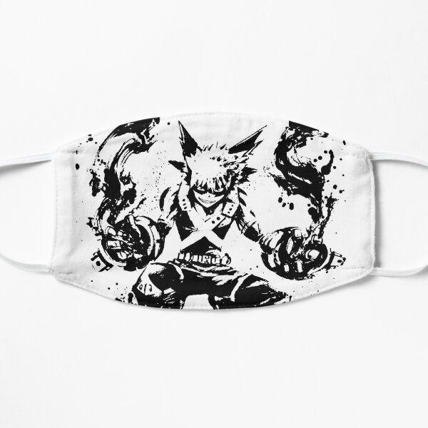 Bakugo Katsuki Ink Splatter Flat Mask