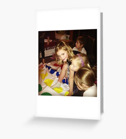 Playing Twister Greeting Card