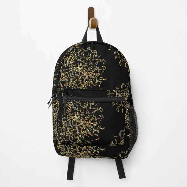 Gold Music Notes Backpack