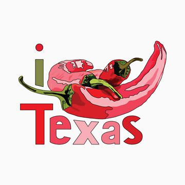 I LOVE TEXAS T-shirt by ethnographics
