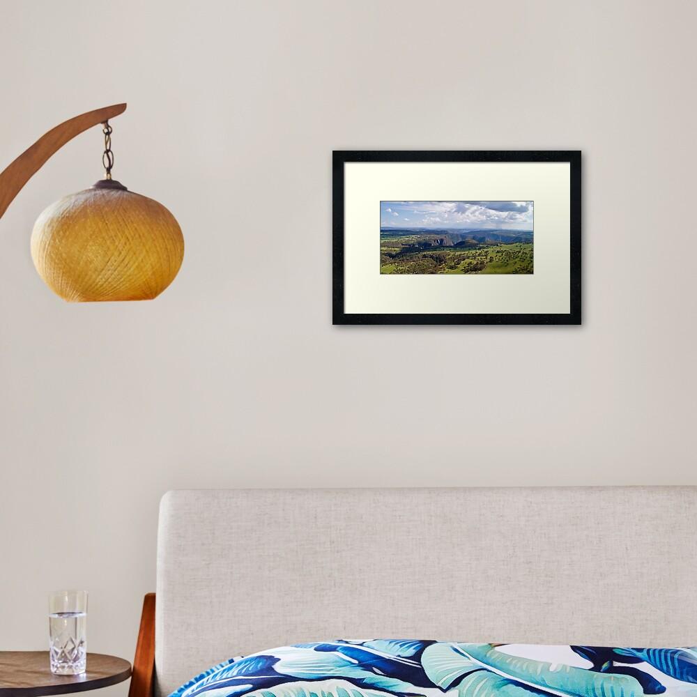 Wollomombi Falls Gorge Framed Art Print