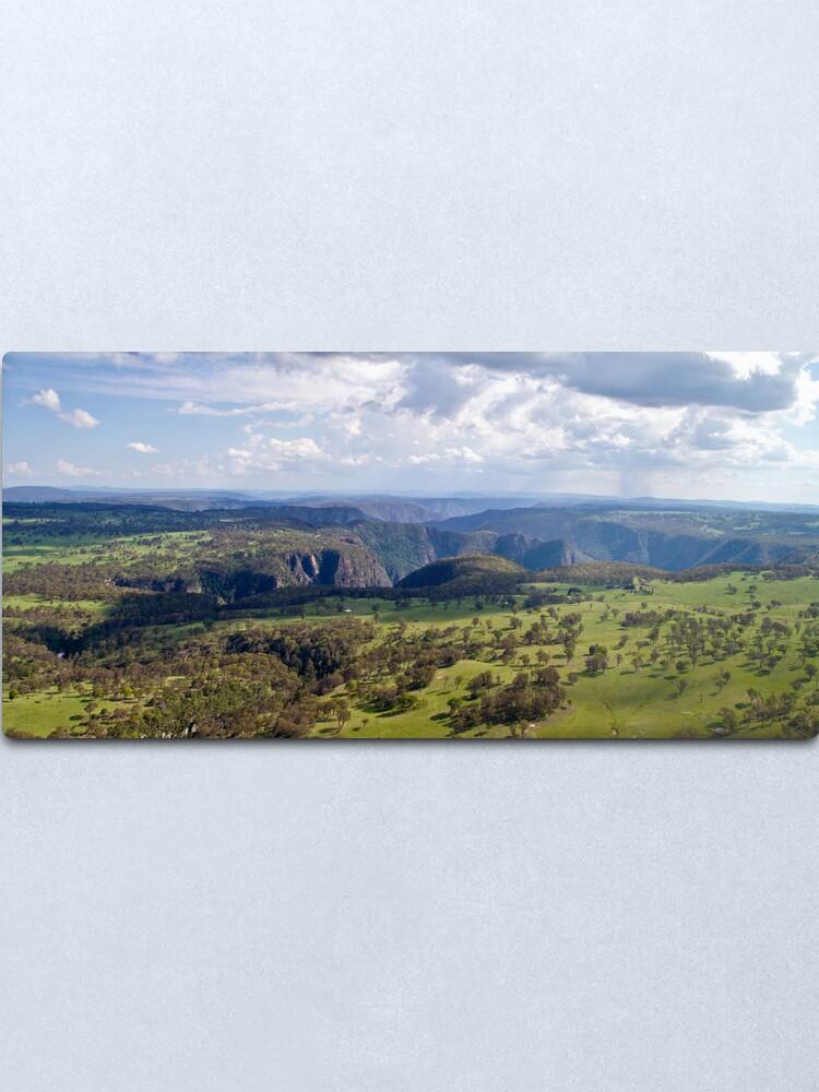 Alternate view of Wollomombi Falls Gorge Metal Print