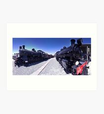 Steam Engines Pano Art Print