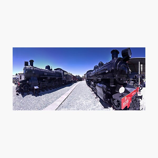 Steam Engines Pano Photographic Print