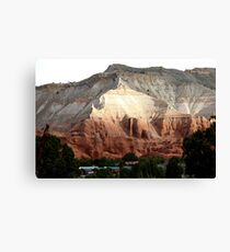 Colored Mountain in Kodachrome State Park Canvas Print