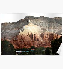 Colored Mountain in Kodachrome State Park Poster