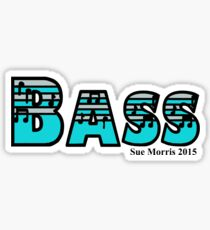 Bass Silver & Turquoise Sticker