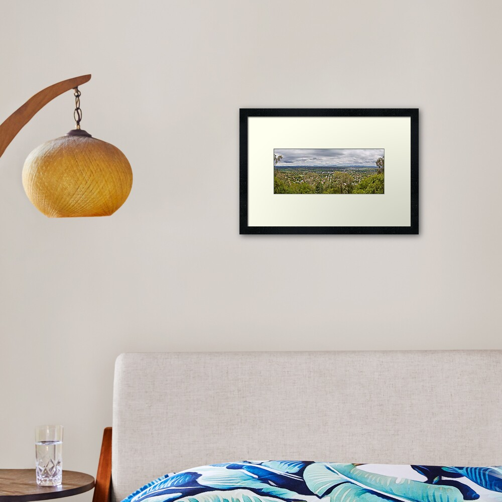 Tamworth from the Lookout Framed Art Print