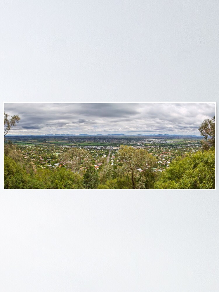Alternate view of Tamworth from the Lookout Poster