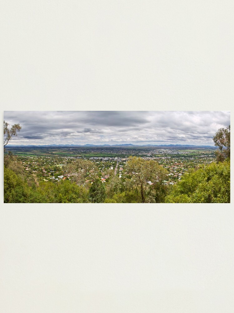 Alternate view of Tamworth from the Lookout Photographic Print