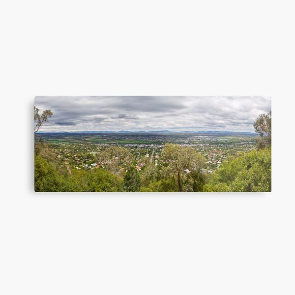 Tamworth from the Lookout Metal Print