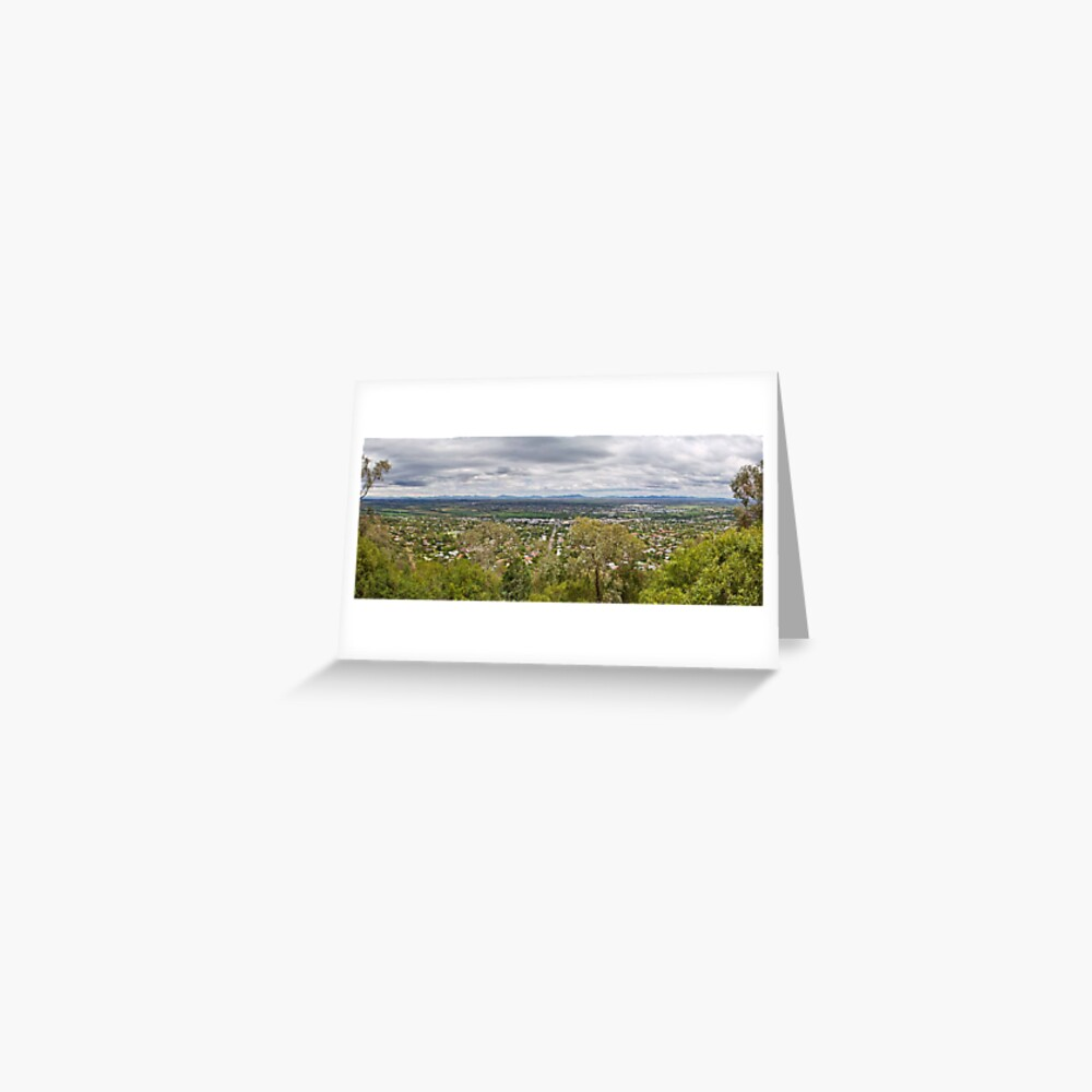Tamworth from the Lookout Greeting Card