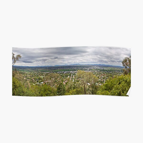 Tamworth from the Lookout Poster