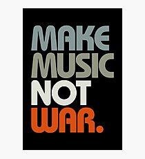 Make Music Not War (Retro) Photographic Print