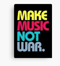 Make Music Not War (Venerable) Canvas Print