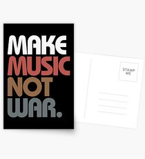Make Music Not War (Antique) Postcards