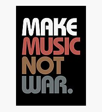 Make Music Not War (Antique) Photographic Print