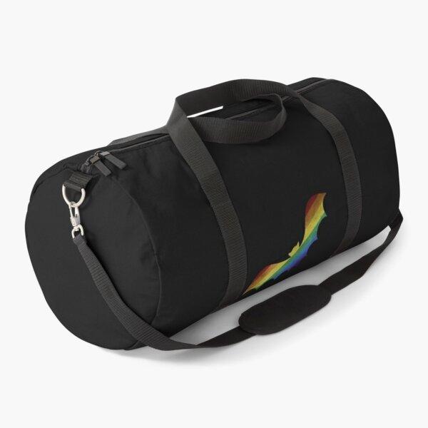 Rainbow Bat  pride LGBT  Duffle Bag