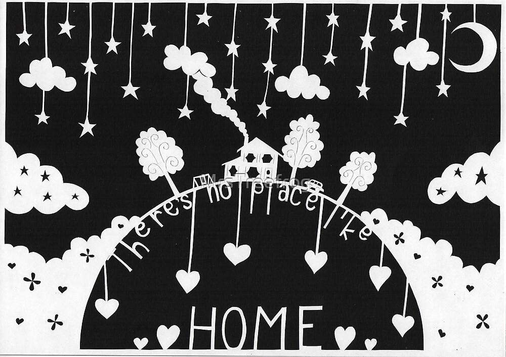 There's no place like home - midnight black by MrsTreefrog
