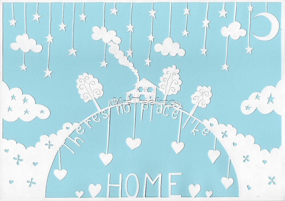 There's no place like home - light blue by MrsTreefrog