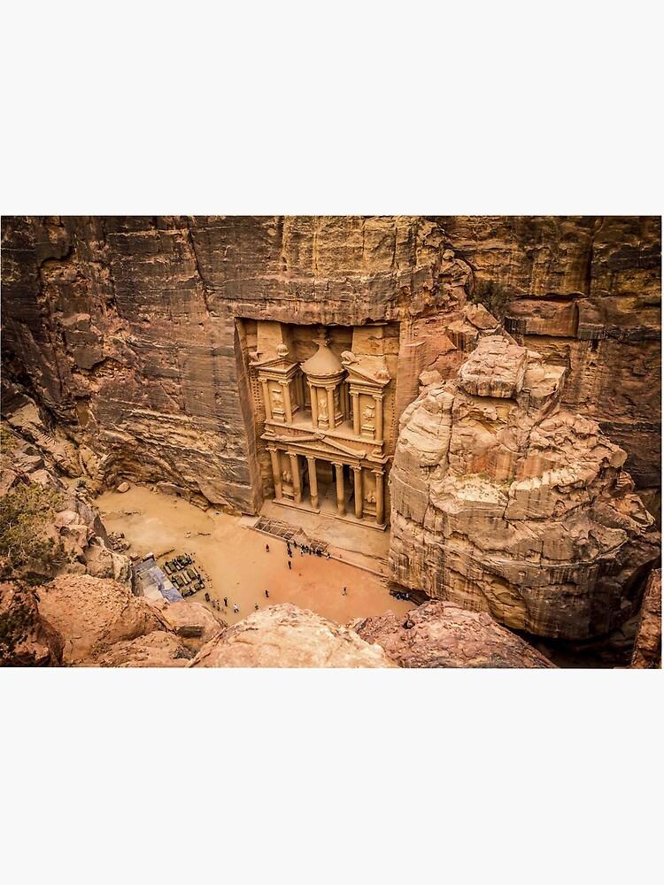 Petra, Jordan Face Mask: Wonders of the World by renatofalco