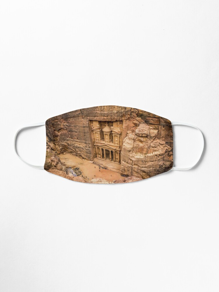 Alternate view of Petra, Jordan Face Mask: Wonders of the World Mask