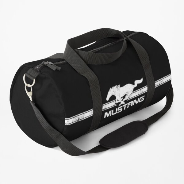 Ford Mustang - Vintage Pony Classic Stripes logo Duffle Bag