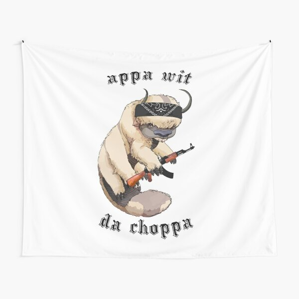 Appa With A Choppa Tapestry
