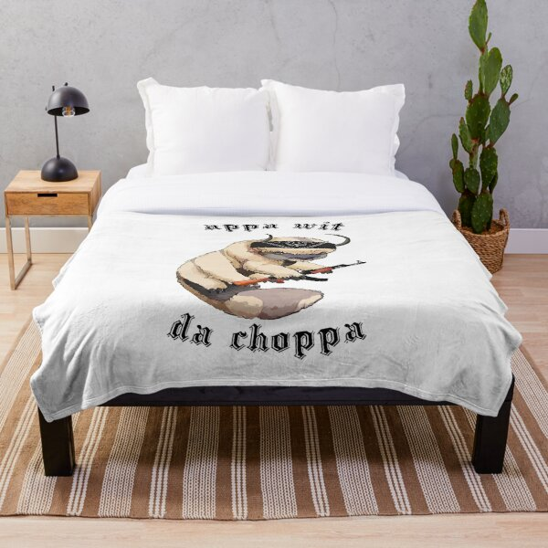 Appa With A Choppa Throw Blanket