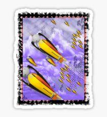 space ship invasion squadron  Sticker