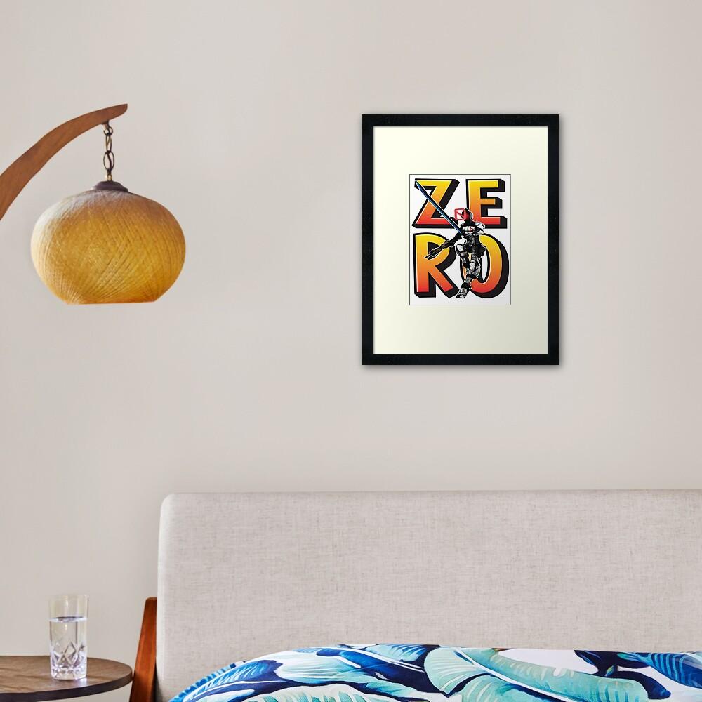 Zer0 The Assassin Borderlands Framed Art Print