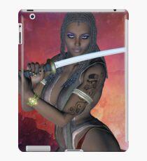 Samurai Warrior sword girl iPad Case/Skin