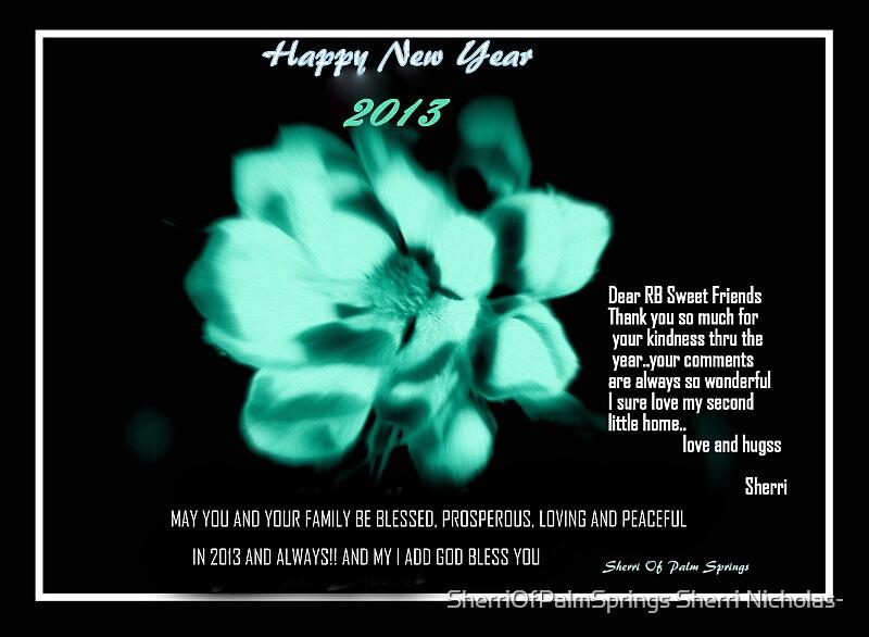 HAPPY NEW YEAR by SherriOfPalmSprings Sherri Nicholas-