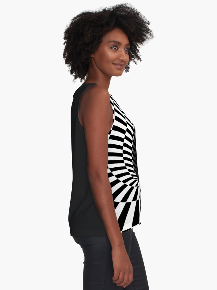 Alternate view of Optical Illusion, Visual Illusion,  Cognitive Illusions, #OpticalIllusion, #VisualIllusion,  #CognitiveIllusions, #Optical, #Illusion, #Visual, #Cognitive, #Illusions Sleeveless Top