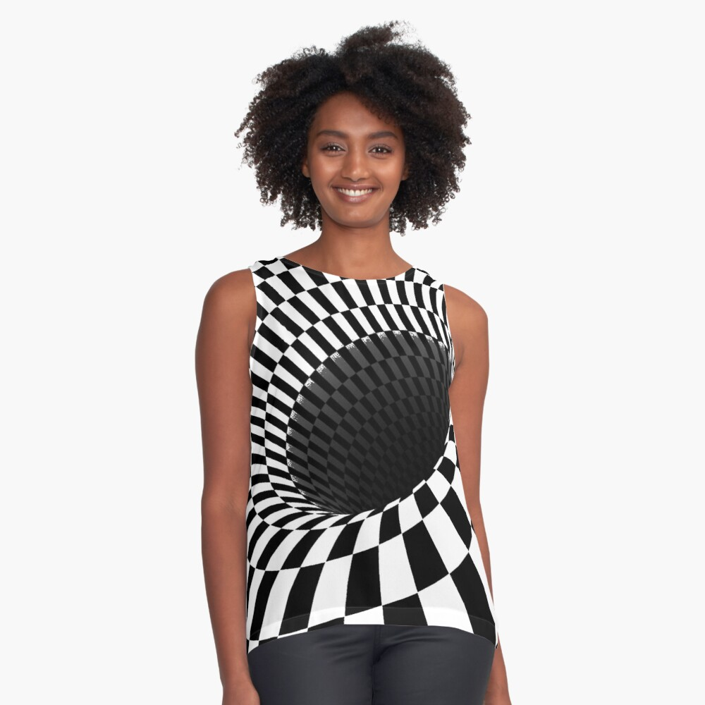 Optical Illusion, Visual Illusion, Cognitive Illusions, #OpticalIllusion, #VisualIllusion, #CognitiveIllusions, #Optical, #Illusion, #Visual, #Cognitive, #Illusions: Sleeveless Top