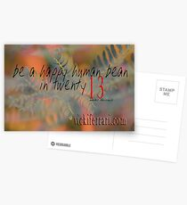 be a happy human bean in twenty13 © Vicki Ferrari Postcards